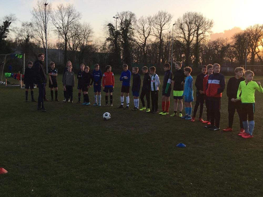 Eerste gezamenlijke training jeugd SV Tynaarlo en VAKO