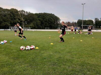 Voetbalmeiden Sv Tynaarlo/VAKO krijgen voetbalclinic van sc Heerenveen
